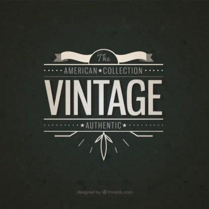 American Vintage Badge Free Vector
