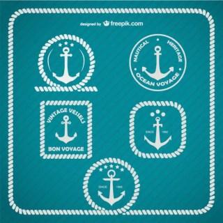 Anchor Logo Marine Template Free Vector