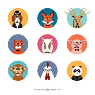 Animal Avatars Free Vector