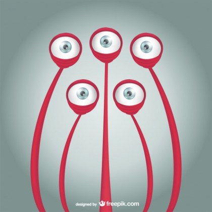 Animal Monster Cartoon Eyes Free Vector