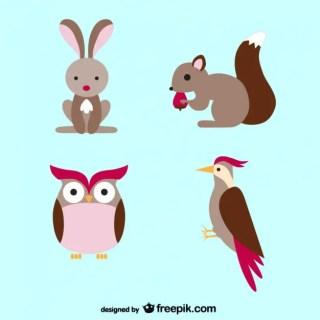 Animals Cartoons Free Vector