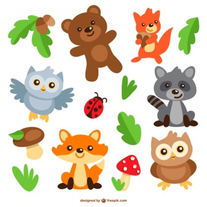 Animals Cartoons Pack Free Vector