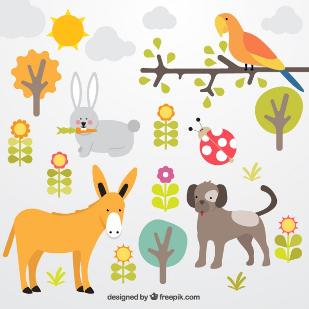 Animals Collection Free Vector