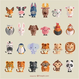 Animals Flat Set Free Vector