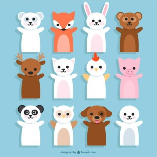 Animals Puppets Cartoons Free Vector