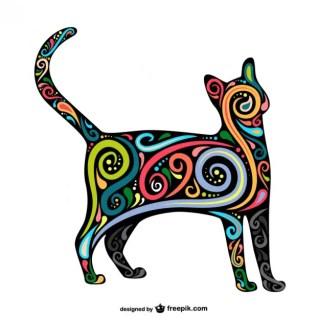 Art Cat Free Vector