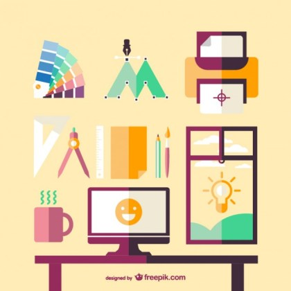 Artistic Space Template Free Vector