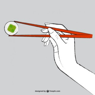 Asian Food Drawing Free Vector