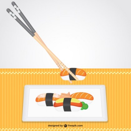 Asian Food Illustration Free Vector