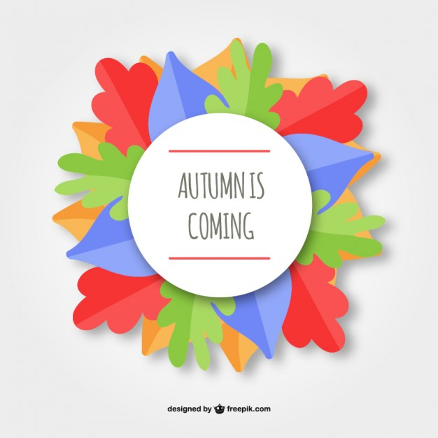 Autumn Is Coming Background Free Vector