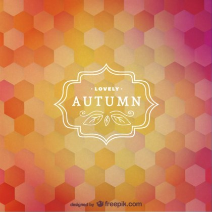 Autumn Label Free Vector