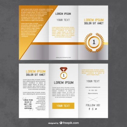 Awards Flyer Template Free Vector