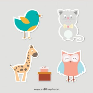 Baby Animals Collection Free Vector