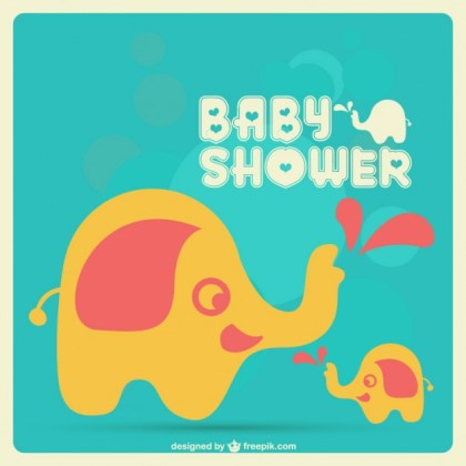 Baby Card Cute Design Free Vector
