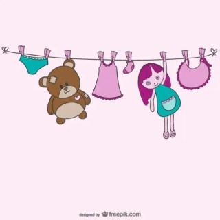 Baby Clothesline Free Vector