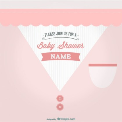 Baby Shower Party Design Free Vector