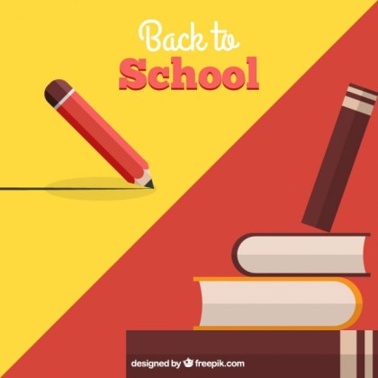 Back To School Background Free Vector