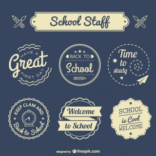 Back To School Badges Set Free Vector