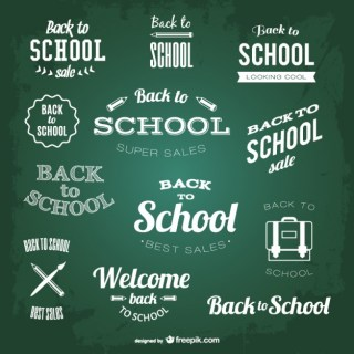 Back To School Chalk Elements Free Vector