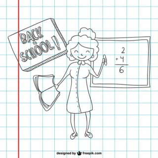 Back To School Sketch on Paper Free Vector