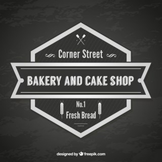 Bakery and Cake Shop Vintage Badge Free Vector