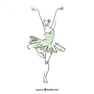 Ballerina Dancer Free Vector
