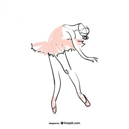 Ballet Dancer Illustration Free Vector