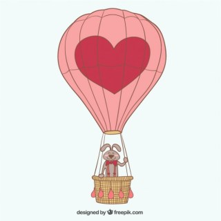 Balloon with Heart Free Vector