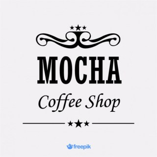 Banner Coffee Bar Mocha with Royal Insignia on The Top Free Vector