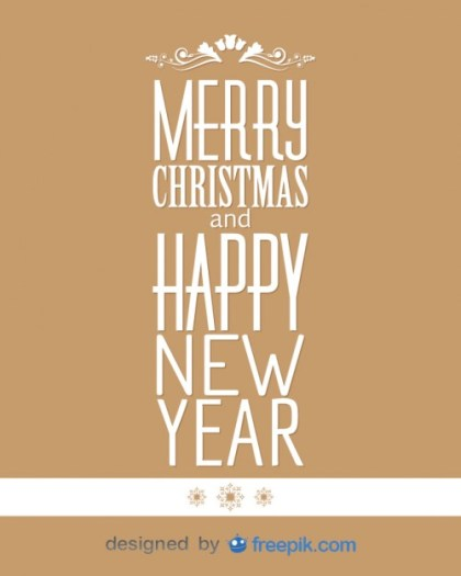 Banner Merry Christmas and Happy New Year Free Vector