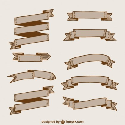 Banners and Ribbons Pack Free Vector