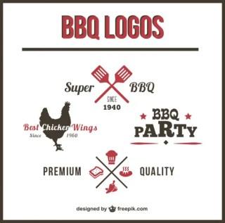 Barbecue Logos Set Free Vector