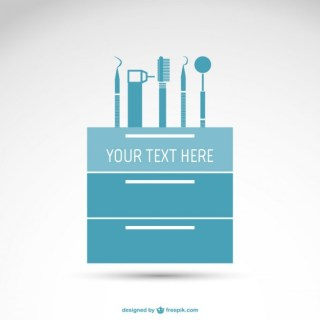 Basic Dentist Tools Free Vector
