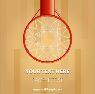Basketball Hoop Background Free Vector