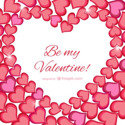 Be My Valentine Greeting Card Free Vector