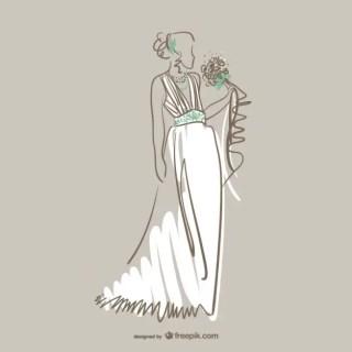 Beautiful Bride Free Vector