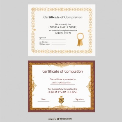Beautiful Certificate Templates Free Vector