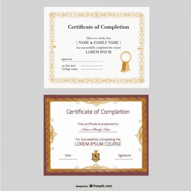 Beautiful Certificate Templates Free Vector
