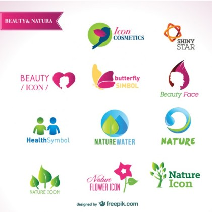 Beautiful Icon Design Material Free Vector