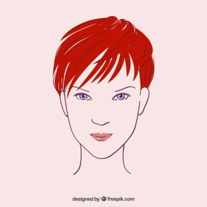 Beautiful Womans Face in Hand Drawn Style Free Vector
