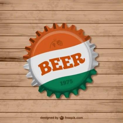 Beer Bottle Cap Free Vector