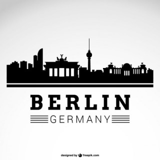 Berlin City Skyline Free Vector