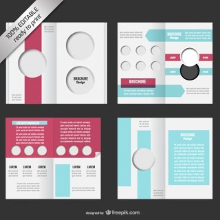 Bi-Fold Editable Brochure Mock-Up Free Vector