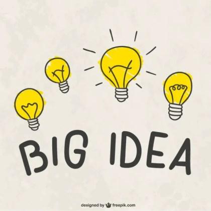 Big Idea Light Bulbs Free Vector