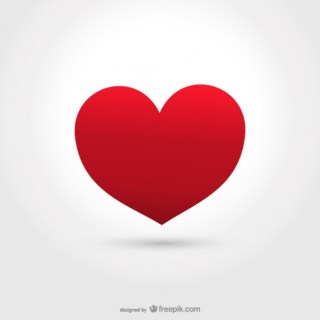Big Red Heart Free Vector