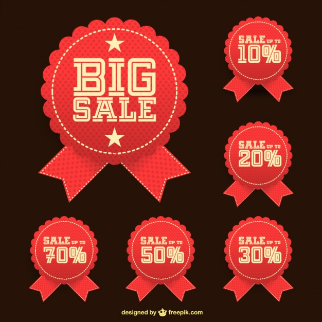Big Sale Stickers Free Vector