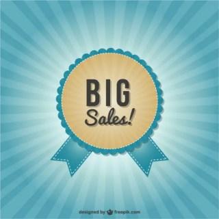 Big Sales Labels Free Vector