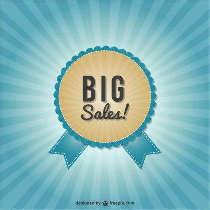 Big Sales Labels Free Vector