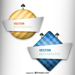Billboard Style Labels Free Vector