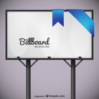 Billboard with Blue Lace Free Vector